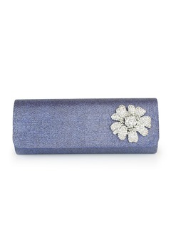 Elegant Tulle With Crystal/ Rhinestone Clutches