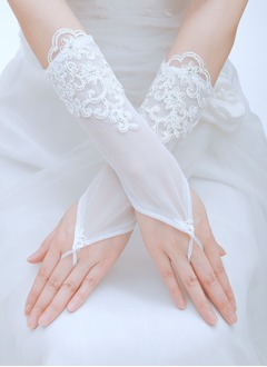 Tulle Elbow Length Bridal Gloves (0145093788)