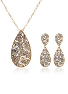 Beautiful Alloy With Rhinestone Women's Jewelry Sets