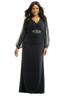 Sheath/Column V-neck Floor-Length Chiffon Evening Dress With Beading