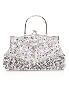 Fashional Polyester With Beading/Sequin Clutches/Wristlets