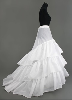 Women Nylon/Tulle Netting Chapel Train 3 Tiers Petticoats
