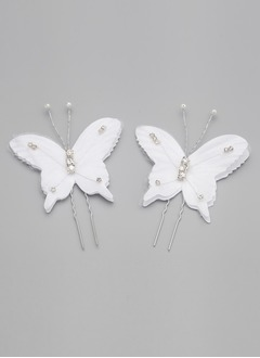 Simple Butterfly Rhinestone/Alloy Hairpins