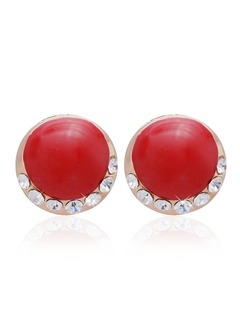 Fashional Alloy With Rhinestone Women's Earrings