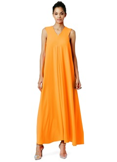 A-Line/Princess V-neck Ankle-Length Chiffon Evening Dress