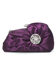 Elegant Silk/Crystal/ Rhinestone With Rhinestone Clutches