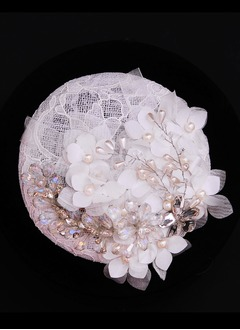 Luxuoso Cristal/Strass/Flor de seda/Cambric Fascinators