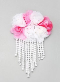 Eye-catching/Colorful Alloy/Imitation Pearls/Silk Flower Combs & Barrettes