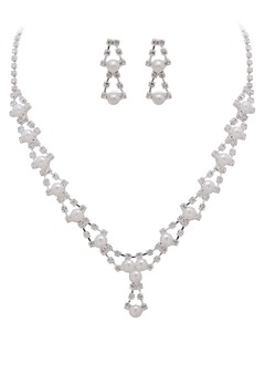 Shining Alloy With Rhinestone Ladies' Jewelry Sets