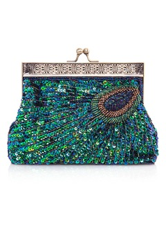 Unique Sparkling Glitter With Beading/Sequin Clutches (0125093763)