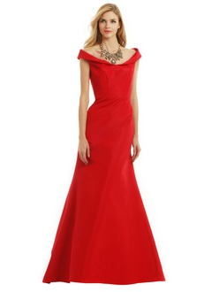Trumpet/Mermaid Off-the-Shoulder Floor-Length Taffeta Evening Dress