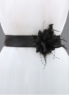 Ribbon 98inch(250cm) With Flower Feather Sashes
