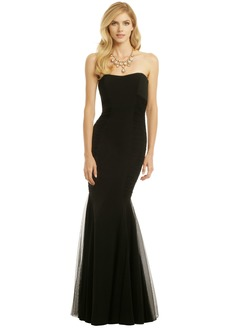 Trumpet/Mermaid Strapless Floor-Length Satin Tulle Evening Dress With Ruffle