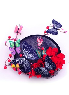 Gorgeous/Special Silk Flower/Net Fascinators
