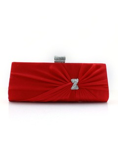 Elegant Silk/Rhinestone With Rhinestone Clutches