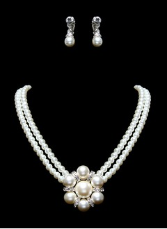 Elegant Alloy With Pearl/Rhinestone Ladies' Jewelry Sets (01105010302)