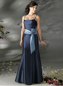 Trumpet/Mermaid Floor-Length Charmeuse Bridesmaid Dress With Sash Crystal Brooch