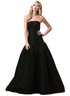 Ball-Gown Strapless Floor-Length Taffeta Prom Dress