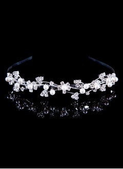 Beautiful/Eye-catching/Charming Alloy/Imitation Pearls Tiaras