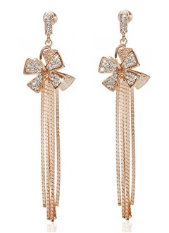 Beautiful Alloy With Crystal Ladies' Earrings