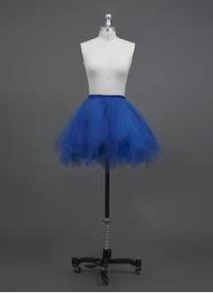 Women/Girls Tulle Netting/Polyester Short-length 3 Tiers Petticoats