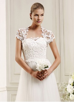 Short Sleeve Lace Wedding Wrap (0135123455)