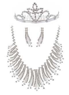 Unique Alloy With Rhinestone Ladies' Jewelry Sets