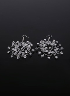 Shining Rhinestones With Rhinestone Ladies' Earrings