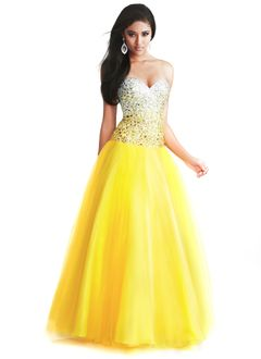 Ball-Gown Strapless Sweetheart Floor-Length Tulle Prom Dress With Beading Sequins