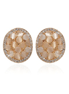 Shining Alloy With Crystal Ladies' Earrings