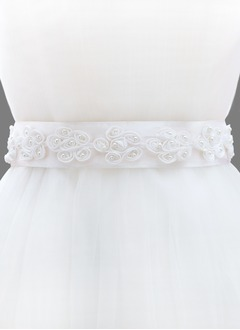 Ribbon 98inch(250cm) With Flower Imitation Pearl Sashes