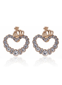 Shining Alloy With Rhinestone Ladies' Earrings