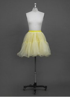 Women/Girls Organza/Polyester Short-length 2 Tiers Petticoats (03705028778)
