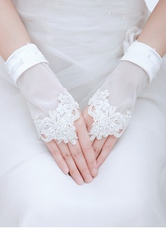 Tulle Wrist Length Bridal Gloves (0145093791)