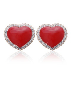 Alloy/Crystal/Coloured Glaze Ladies' Stud Earrings