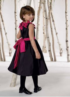 A-Line/Princess Scoop Neck Tea-Length Taffeta Flower Girl Dress With Ruffle Sash