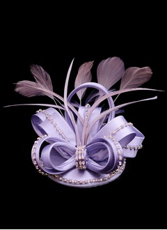 Bowknot Rhinestone/Feather/Satin Fascinators