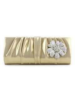 Elegant PU With Flower/Ruffles Clutches