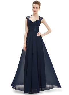 A-Line/Princess Sweetheart Floor-Length Chiffon Mother of the Bride Dress With Appliques Lace