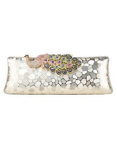 Unique Silk/Crystal/ Rhinestone With Crystal/ Rhinestone Clutches/Wallets & Accessories