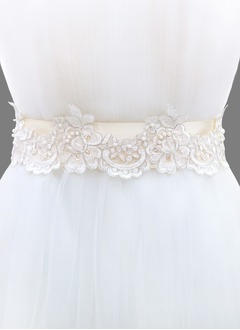 Ribbon 98inch(250cm) With Lace Imitation Pearl Sashes