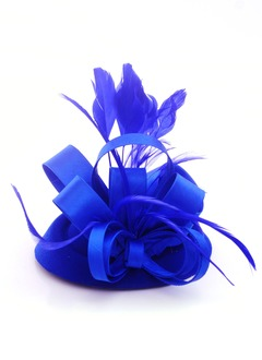 Lindo/Moda/Especial Pena/Cetim/Wool Fascinators