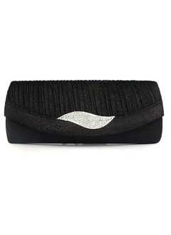 Charming Abrasive Cloth With Rhinestone Clutches