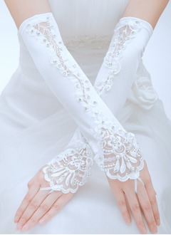 Satin Elbow Length Bridal Gloves (0145093790)