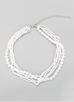 Elegant Alloy/Faux Pearl Women's Necklaces (0115101367)