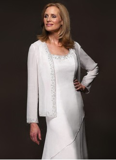 Long Sleeve Chiffon Special Occasion Wrap (0135062183)