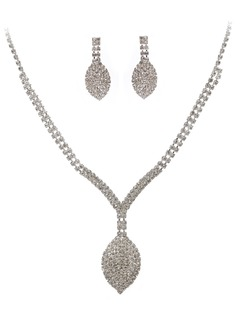 Elegant Alloy With Crystal Ladies' Jewelry Sets