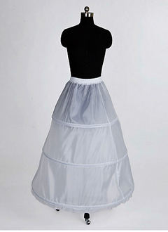 Women Nylon Tea-length 1 Tiers Petticoats (03705028718)
