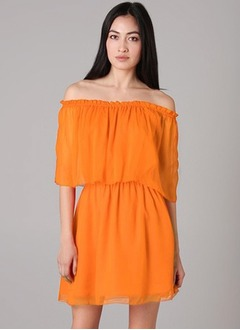 A-Line/Princess Off-the-Shoulder Short/Mini Chiffon Cocktail Dress With Ruffle