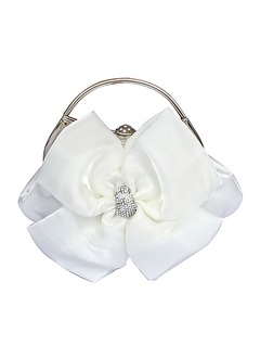 Elegant Satin With Flower/Rhinestone Clutches/Top Handle Bags